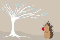 Hedgehog e inverno Imagens de Stock Royalty Free