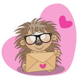 Hedgehog with envelope Royalty Free Stock Image