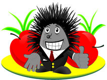 Hedgehog feliz Imagens de Stock