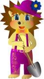 Hedgehog gardener Royalty Free Stock Images
