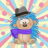 Hedgehog with hat Royalty Free Stock Photo