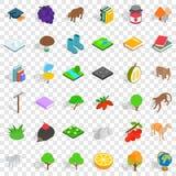 Hedgehog icons set, isometric style. Hedgehog icons set. Isometric style of 36 hedgehog vector icons for web for any design vector illustration