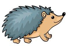 Hedgehog isolado no branco Foto de Stock