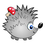 Hedgehog isolated character.cute animal  Royalty Free Stock Photos
