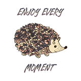 Hedgehog isolated. Vector Royalty Free Stock Image