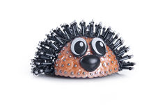 Hedgehog, made from beads. handmade Royalty Free Stock Image