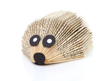 Hedgehog made of book Royalty Free Stock Photo