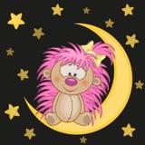 Hedgehog on the moon Stock Photo