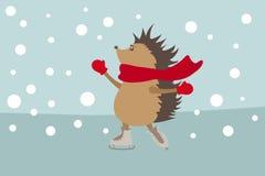 Hedgehog nos patins Imagens de Stock