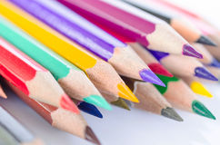 Hedgehog out of color pencils Royalty Free Stock Photos