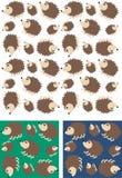 hedgehog pattern seamless Stock Photo