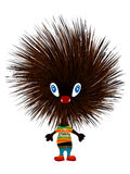 Hedgehog punk. Isolated object over white background Royalty Free Stock Photo