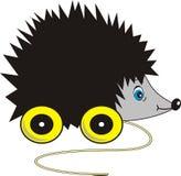 Hedgehog ridículo - brinquedo nas rodas Imagens de Stock Royalty Free