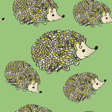 Hedgehog seamless pattern Royalty Free Stock Photos