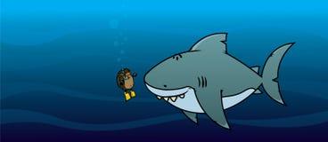 Hedgehog and shark Stock Photos