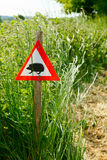 Hedgehog sign Royalty Free Stock Image