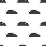 Hedgehog stylized line fun seamless pattern for kids and babies. Stock Images