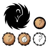 Hedgehog symbol Stock Images