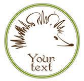 Hedgehog symbol Royalty Free Stock Photos