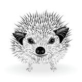 Hedgehog symbol vector Stock Images