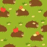 hedgehogs безшовные иллюстрация штока