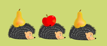 Hedgehogs in the autumn Royalty Free Stock Photography