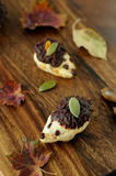 Hedgehogs: children edible confectionery art Stock Image