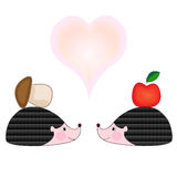 Hedgehogs in Love Royalty Free Stock Photo