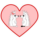 Hedgehogs in love Royalty Free Stock Photos