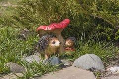 Hedgehogs and mushroom Royalty Free Stock Photos