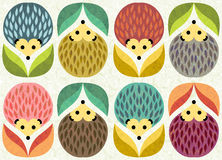 Hedgehogs pattern Royalty Free Stock Photography