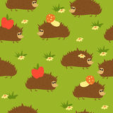Hedgehogs sem emenda Imagem de Stock Royalty Free