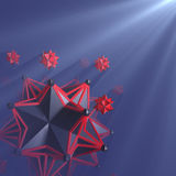 Hedra stars in space Stock Image