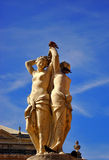 hedrar montpelier staty tre Arkivfoton
