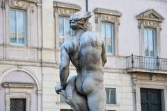 Hedspringbrunn Fontana del Moro Arkivfoto