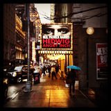 Hedwig Broadway Sign Image stock