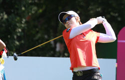 Hee Lee at golf Evian Masters 2012 Stock Photography