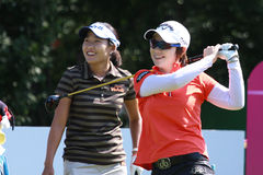 Hee Lee at golf Evian Masters 2012 Stock Image