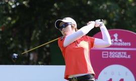 Hee Lee på golf Evian styrer 2012 royaltyfria bilder