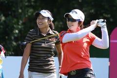 Hee Lee på golf Evian styrer 2012 fotografering för bildbyråer