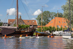 HEEG, NETHERLANDS, June 27, 2015: Sailing lessons Stock Photos