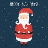 Heel beeldverhaal de Kerstman Het concept van Kerstmis en van het Nieuwjaar Chri stock illustratie