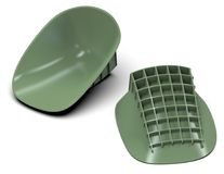 Heel cups shock absorbers Royalty Free Stock Photo