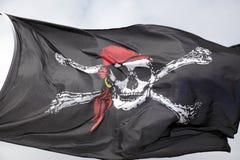 Heel de piraatvlag van Roger Stock Afbeeldingen