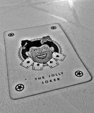 Heel geroepen jokerspeelkaart, ook stock foto's