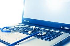 Heel laptop royalty-vrije stock afbeeldingen