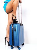 Heel over carry-on Stock Photography