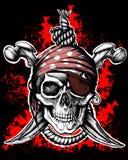 Heel Roger, piraatsymbool royalty-vrije stock afbeeldingen