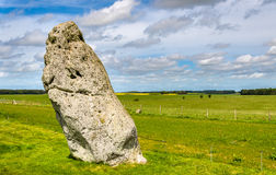 The Heel Stone near Stonehenge Royalty Free Stock Photo