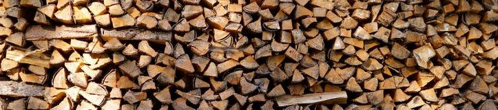 Heel wat brandhout Stock Foto's